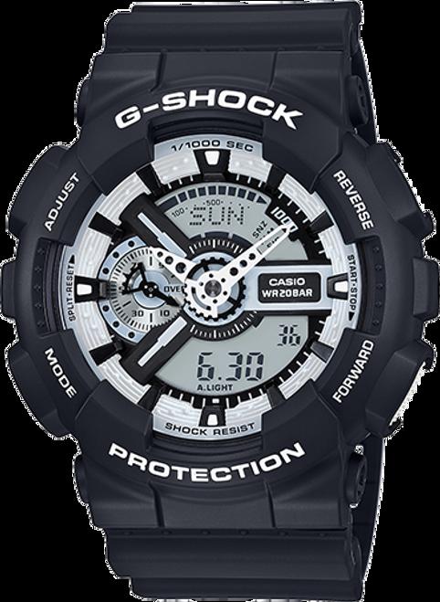 G Shock GA110BW-1A