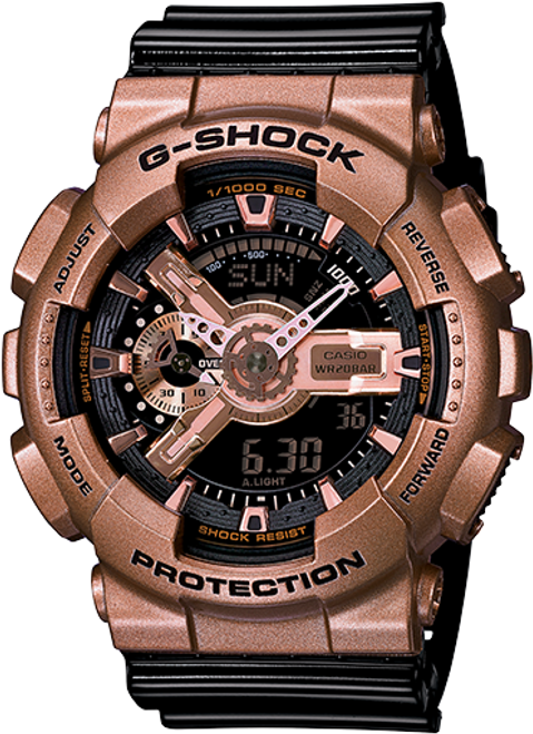 G Shock GA110GD-9B2 Big Case Series - Rose Gold