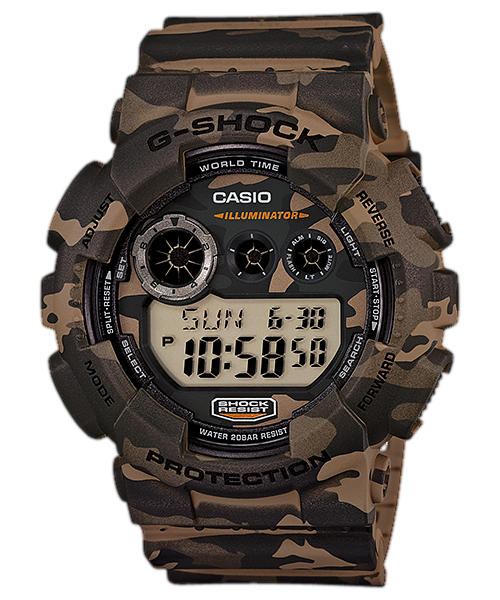 G Shock GD120CM-5 - Woodland Camo Pattern