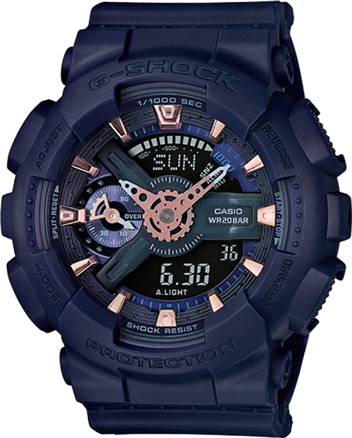 G Shock GMAS110CM-2A S Series - Deep Blue