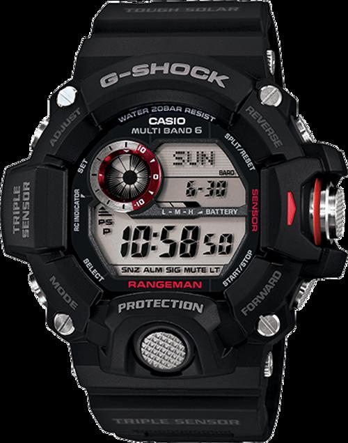 G Shock GW9400-1 Rangeman Solar Atomic - Black