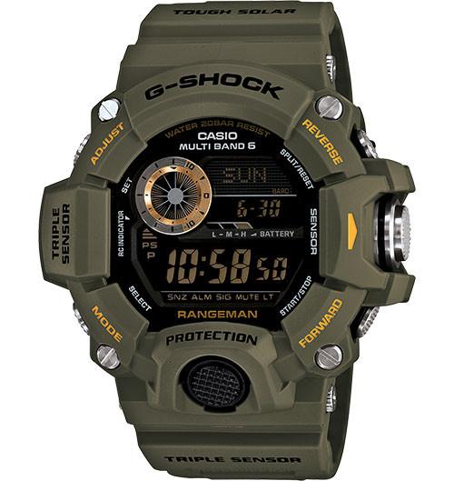 G Shock GW9400-3 Rangeman Solar Atomic - OD Green