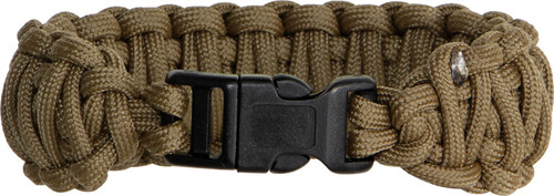 Knotty Boys 105 Paracord Bracelet Coyote Brown - Large