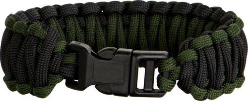 Knotty Boys 106 Paracord Bracelet Black/OD Green - Large