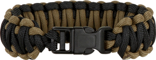 Knotty Boys 107 Paracord Bracelet Black/Coyote Brown - Large