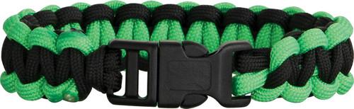 Knotty Boys 203 Paracord Bracelet Black/Neon Green - Large