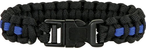 Knotty Boys 301 Paracord Bracelet Black/Royal Blue - Large