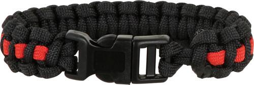 Knotty Boys 302 Paracord Bracelet Black/Red - Large