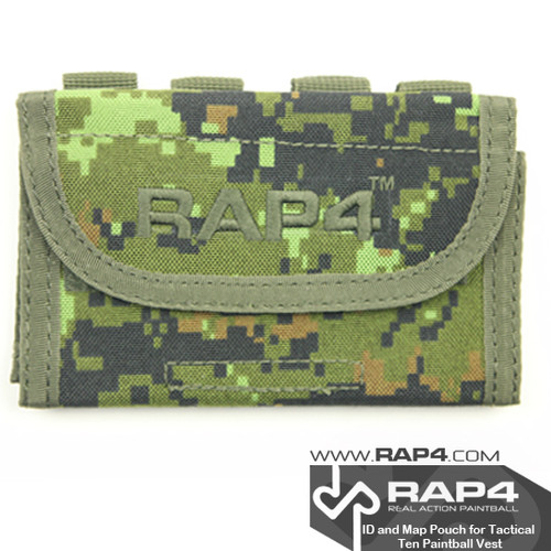 RAP4 ID/Map Pouch For Tactical Ten Paintball Vest  -Canadian Digital Pattern