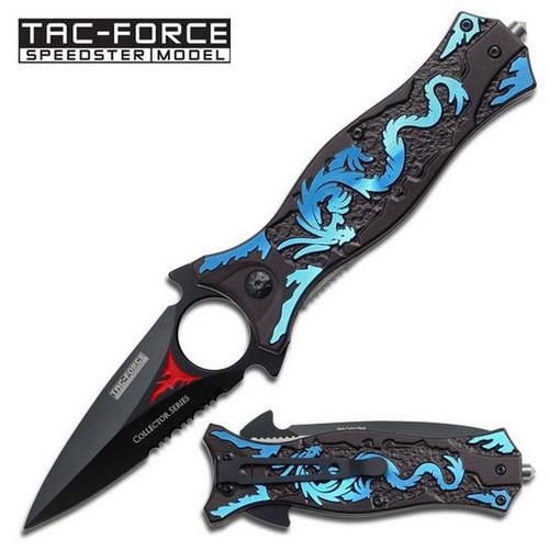 Tac Force 707BL Blue Dragon Dagger Folder