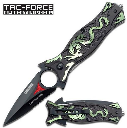 Tac Force 707GN Green Dragon Dagger Folder