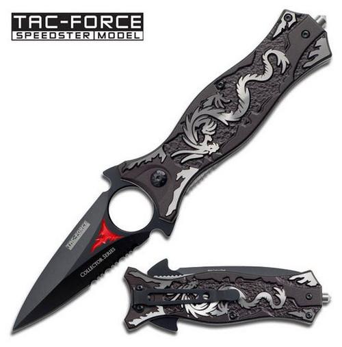 Tac Force 707GY Grey Dragon Dagger Folder