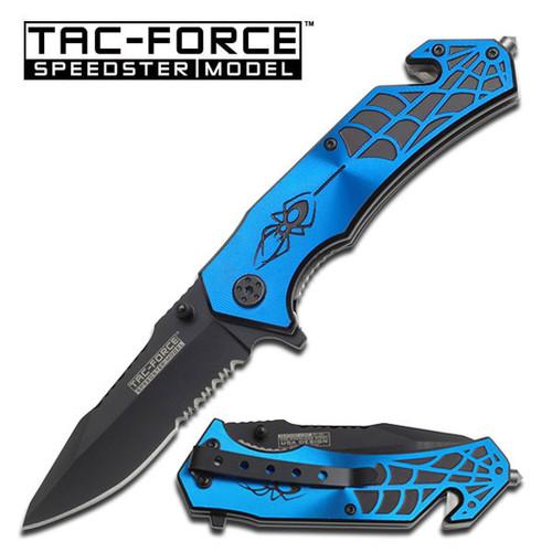 Tac Force TF553BL Blue Spider Folder