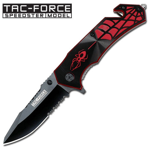 Tac Force TF553BR Red Spider Folder