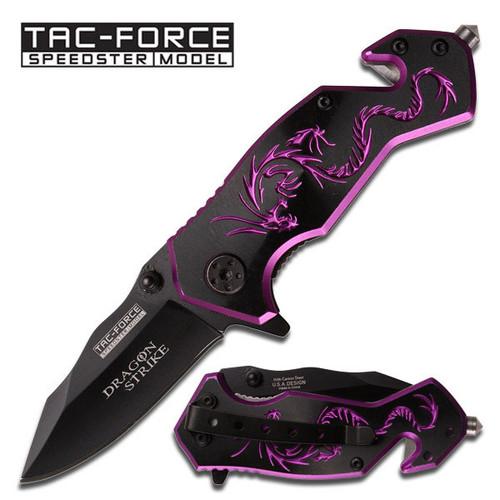 Tac Force TF686BP Purple Dragon Folder