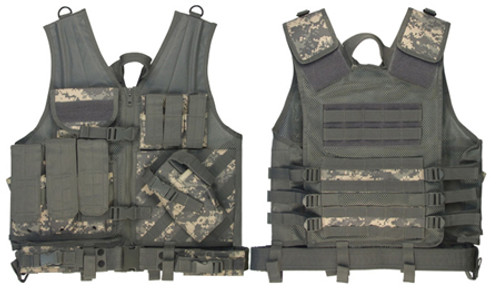 M.O.L.L.E. Cross Draw Tactical Vest - ACU