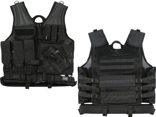 M.O.L.L.E. Cross Draw Tactical Vest - Black