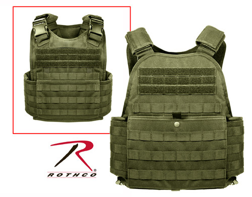 Rothco MOLLE Plate Carrier Vest - Olive Drab