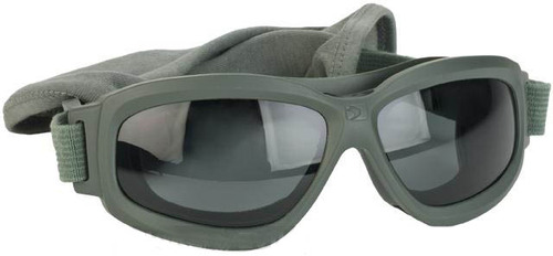 bd19880def Bobster Bravo 2 Interchangeable Ballistics Goggles w  MOLLE pouch and Extra  Lenses - Green