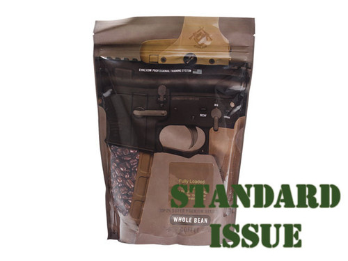 "Guns & Coffee ™ ""Fully Loaded"" 100% Arabica Premium Coffee - ""Standard Issue"" Medium Roast / 1lb Sealed Bag"
