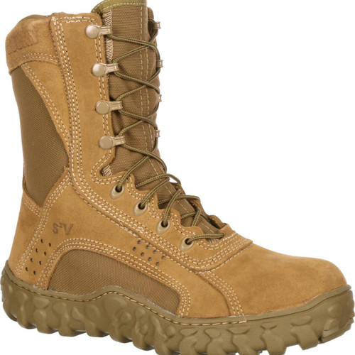 Rocky S2V Steel Toe Tactical Military Boot - Coyote Brown