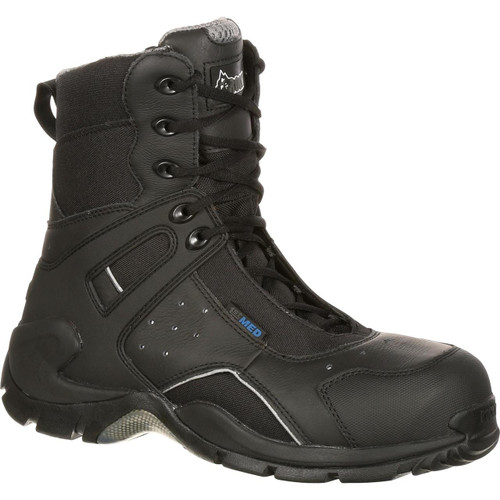 Rocky 1ST Med Carbon Fiber Toe Puncture-Resistent Side-Zip Waterproof Duty Boot
