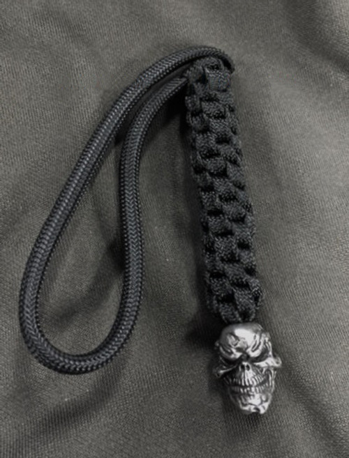 Schmuckatelli Co. Grins Bead Pewter with Black Lanyard