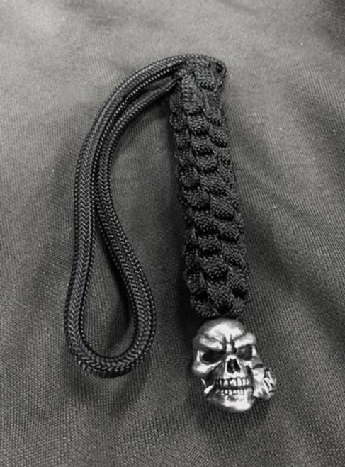 Schmuckatelli Co. Rose Skull Bead Pewter with Lanyard