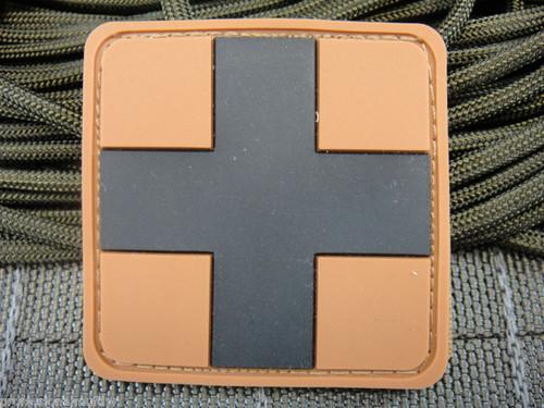 PVC Redcross Medic - Desert/Black - Morale Patch