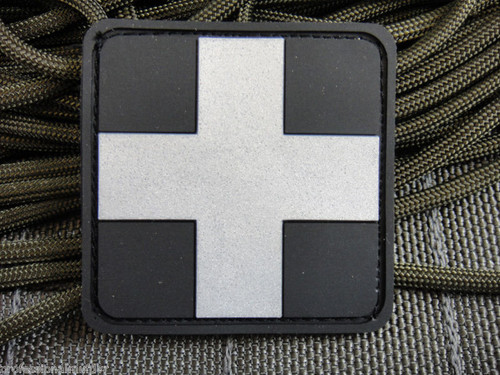 PVC Redcross Medic - Silver/Black - Morale Patch
