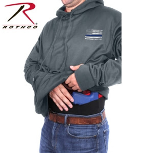 Rothco Thin Blue Line Concealed Carry Hoodie - Grey