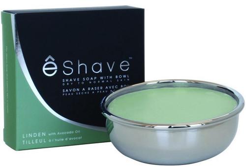 eShave Shaving Soap - Linden & Avocado Oil w/ Bowl