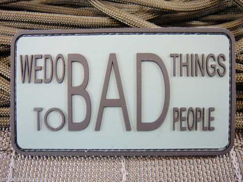 We Do Bad Things To 2 Bad People PVC - Foliage - Morale Patch