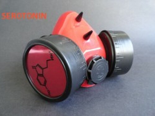 Cyber Serotonin Respirator - Red