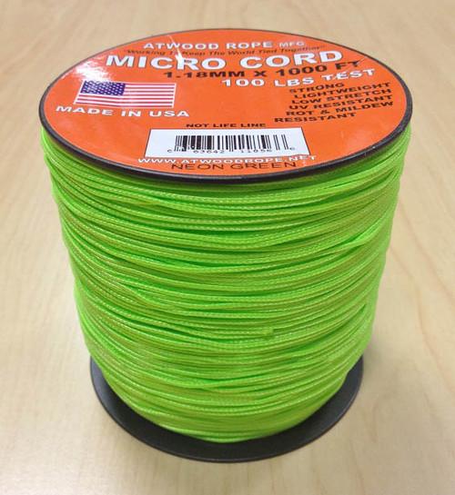 Micro Cord 100 lb, 1000 Ft. Spool - Neon Green