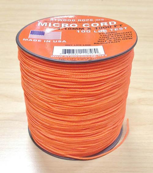 Micro Cord 100 lb, 1000 Ft. Spool - Neon Orange
