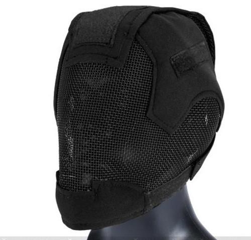 "Matrix ""Striker Helmet"" Full Face Carbon Steel Mesh Mask / Helmet (Color: Black)"