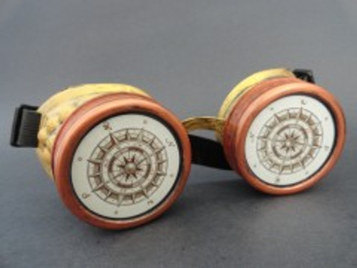 Steampunk Goggles w/Compass Designs