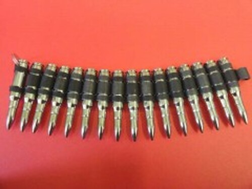 Bullet Bracelet - 0.308mm - Nickle/Black Links