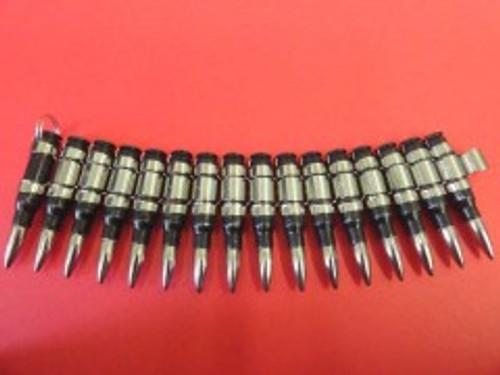 Bullet Bracelet - 0.308mm - Black/Nickle Tip & Link