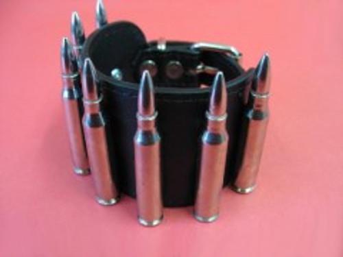 Leather Bullet Bracelet - Nickle