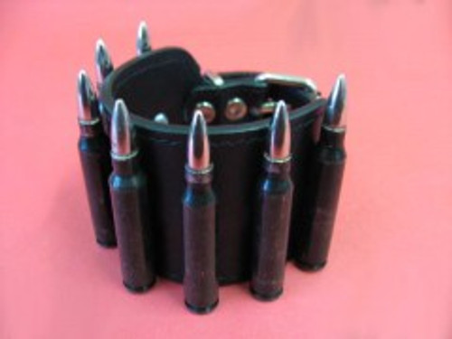 Leather Bullet Bracelet - Black