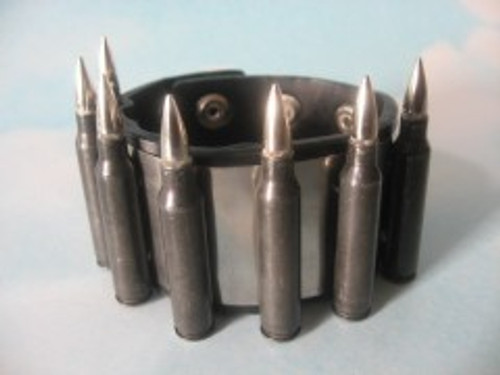 Leather & Steel Bracelet - Black