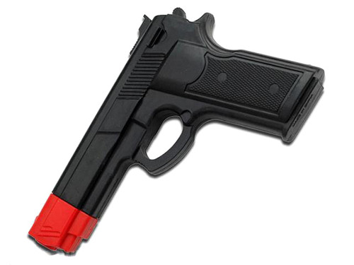 Master Cutlery Full Size Rubber Training Pistol - Black with Orange Tip