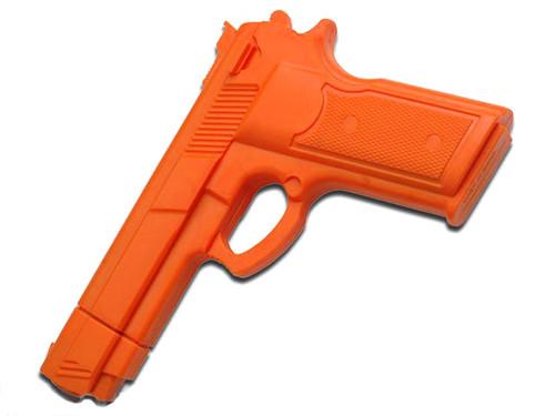 Master Cutlery Full Size Rubber Training Pistol - Orange