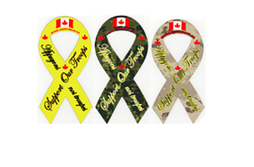 Support Our Troops  Magnetic Ribbon