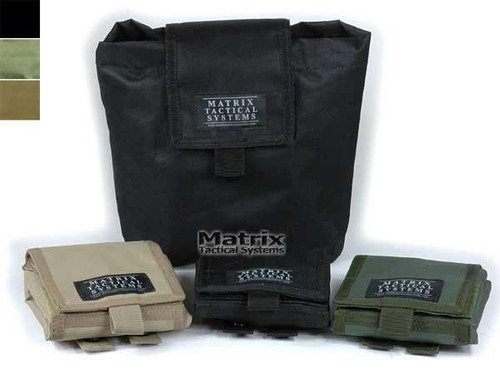 Matrix Tactical Systems Mil-Spec Foldable Mask / Goggle / Utility Dump Pouch - Black