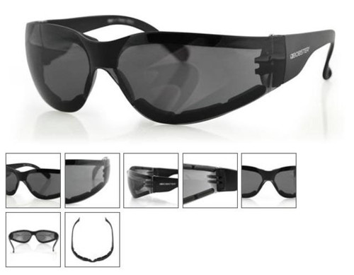 Bobster SHIELD III Shooting Sunglasses ANTI-FOG SMOKED LENS / ANSI Z87