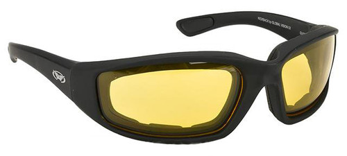 998f5eeed7a00 Global Vision Kickback Z A F Safety Glasses - Yellow Tint