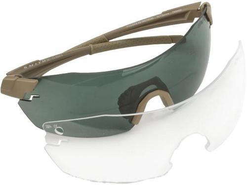 Smith Optics PivLock™ V2 Elite Glasses - Tan 499 w/ Grey & Clear Lenses
